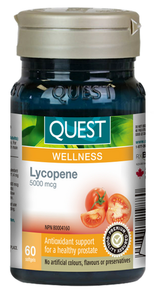 Quest Lycopene 5000 mcg, 60 softgels