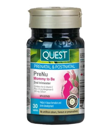 Quest PreNu Mommy To Be - 2nd Trimester, 30 Tabs