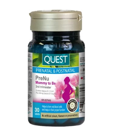 Quest PreNu Mommy To Be - 3rd Trimester, 30 Tabs