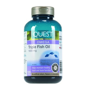 Quest Triple Fish Oil 1000 mg, 120 softgels