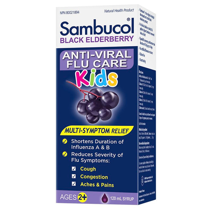 Sambucol Anti-Viral Flu KIDS Syrup, 120 ml