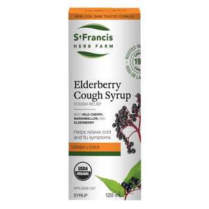 St. Francis Herb Farm Elderberry Cough Syrup - ADULTS, 120 mL
