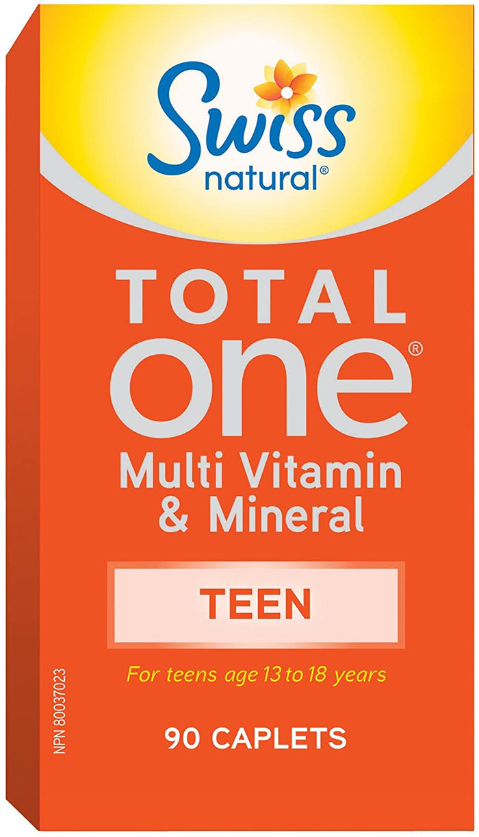 Swiss Naturals Total One Teen Multi, 90 Caplets