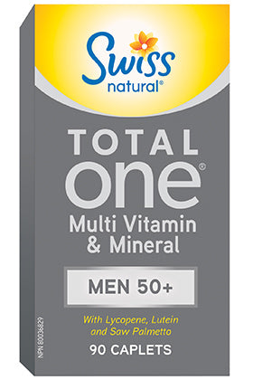 Swiss Naturals Total One Men 50+ Multi, 90 caplets