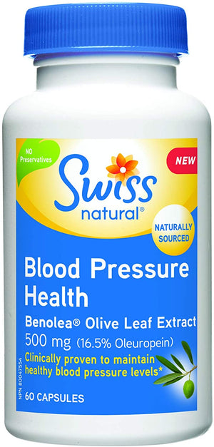 Swiss Naturals Blood Pressure Health Benolea, 60 Caps