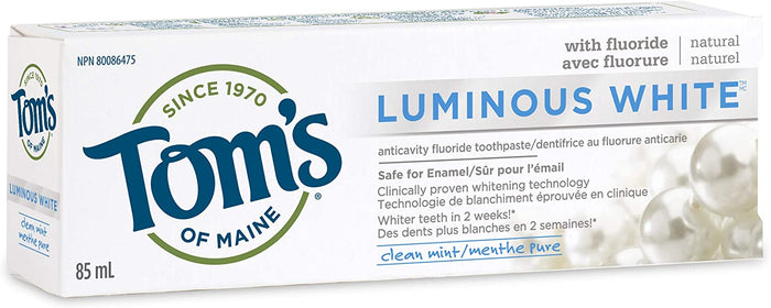 Tom's Of Maine Luminous White Toothpaste in Clean Mint, 85 ml