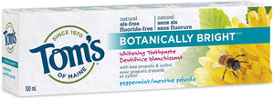 Tom's Of Maine Peppermint Fluoride-Free Botanically Bright Toothpaste, 100 ml