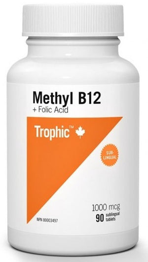Trophic Methyl B12 with Folic Acid, 90 Tabs