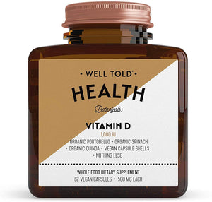 Well Told Health Vitamin D, 62 vegan capsules