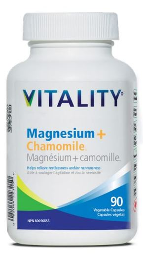 Vitality Products Magnesium+Chamomile, 90 vcaps
