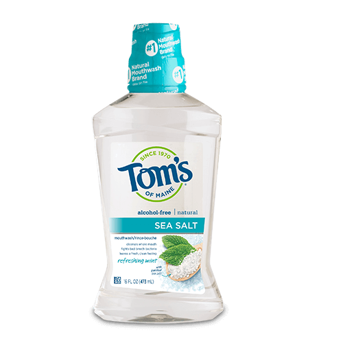 Tom's Of Maine Refreshing Mint Sea Salt Mouthwash, 473 ml