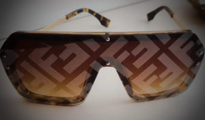FENDI INSPIRED SUNGLASSES- BROWN
