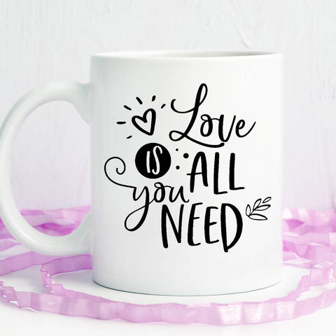 All you need is love Ceramic Coffee Mug