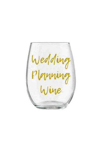 Wedding Planning Wine Glass Stemless Wine Glass Bride to Be Gift for the Bride Wedding Planner Gift Bride Wine Gift in Gold Personalized