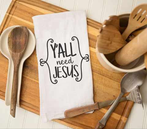 Yall Need Jesus Funny kitchen towel