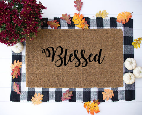 Blessed door entrance mat