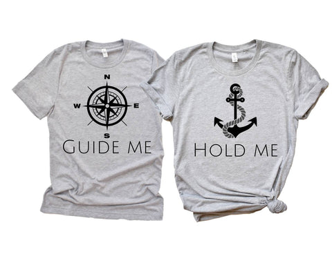 Hold Me, Guide Me matching girlfriend boyfriend shirts