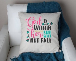 Bible quote pillow 18x18