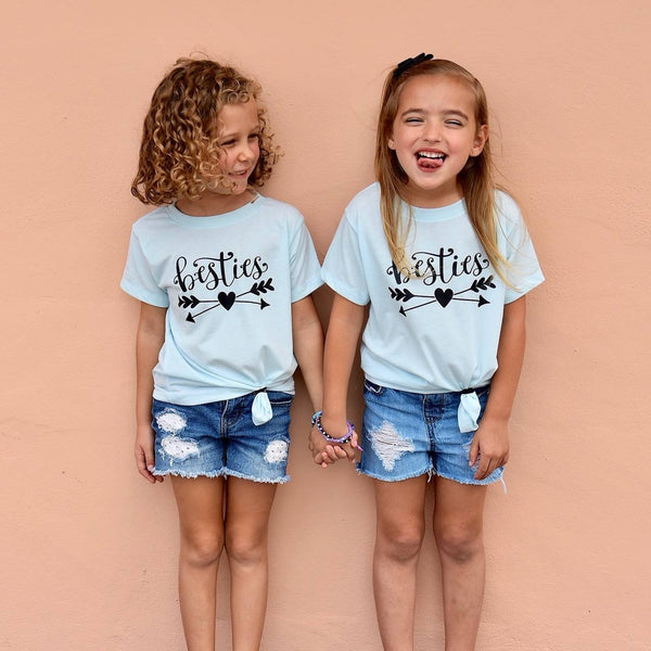 Besties Shirts for Girls / Girls Best Friends shirts / BFF youth tshirts / Kids best friend shirts for 2 / Best Friends gift / besties shirt