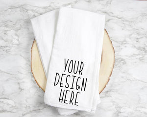 Custom tea towel, personalized Dish Towel, Kitchen Rag, Simple Home Decor, Housewarming gift, Realtor closing gift, Tea Towel, flour sack