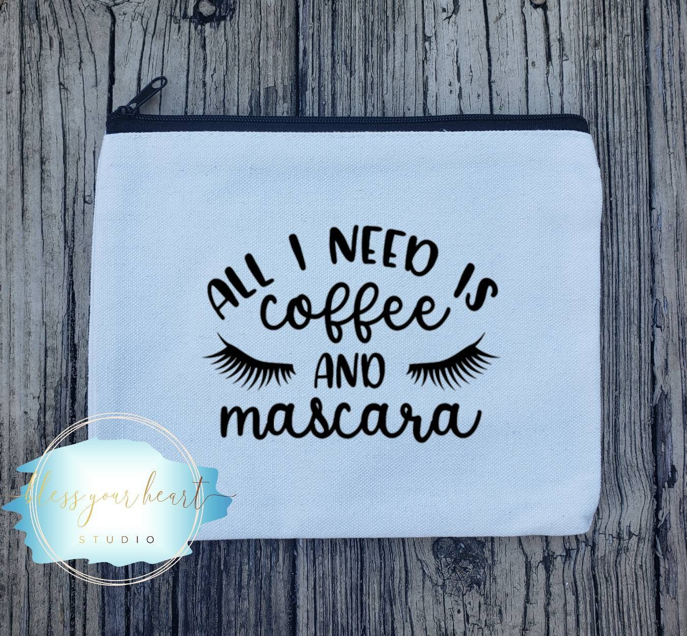 All I need is coffee and mascara Funny Makeup Bag