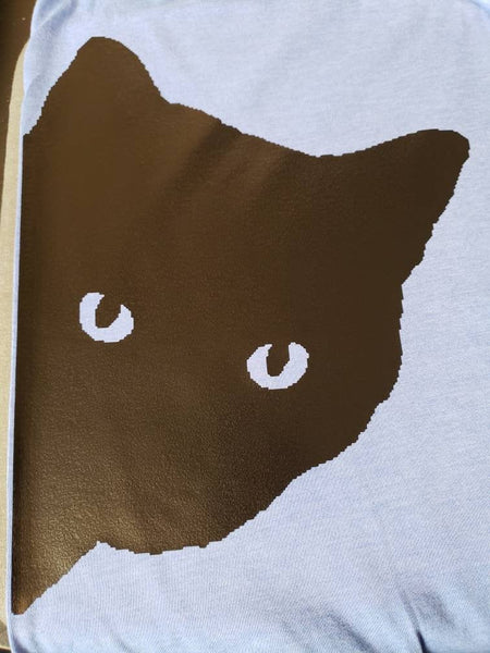 Black Cat peeking tshirt