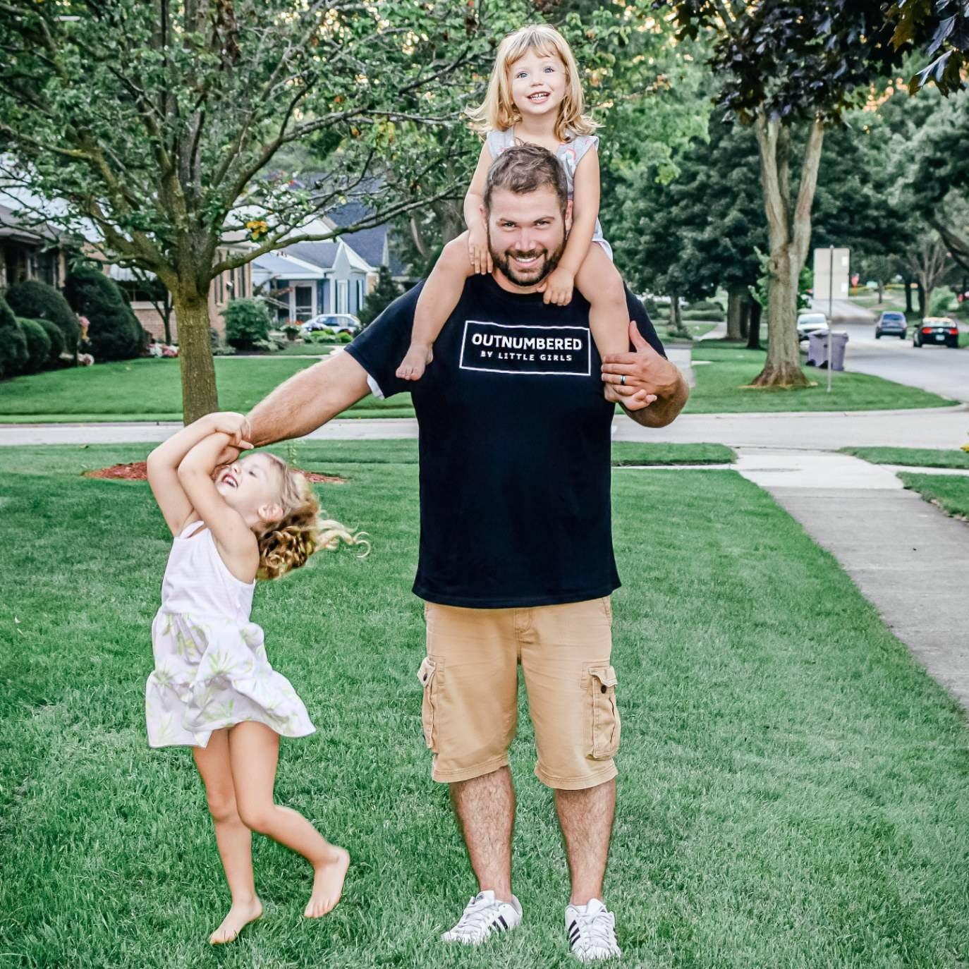 Outnumbered by girls shirt Dad of Girls