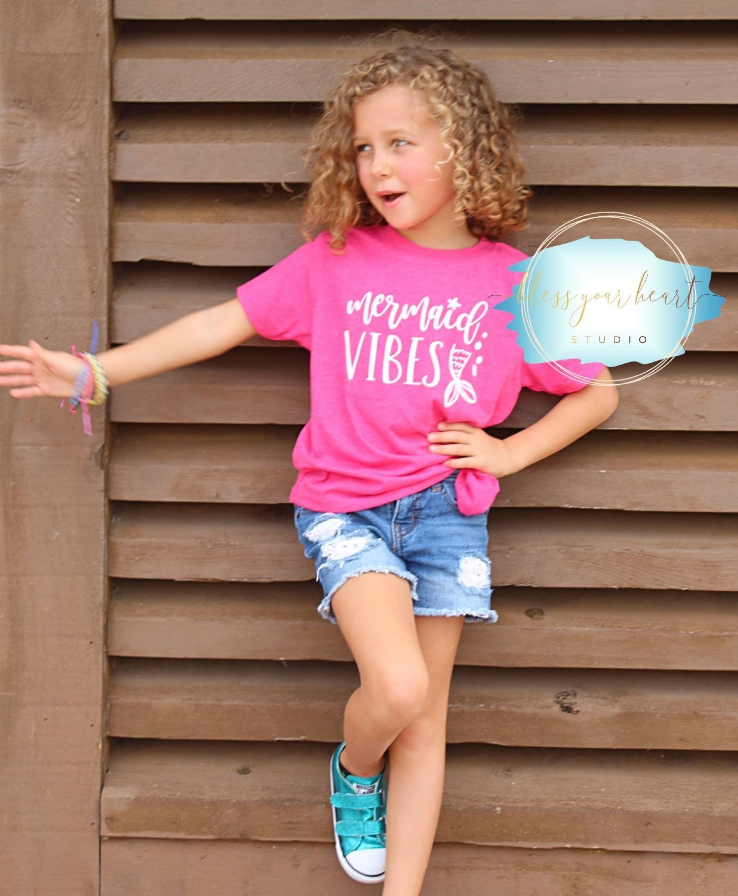 Mermaid Vibes tshirt for girls