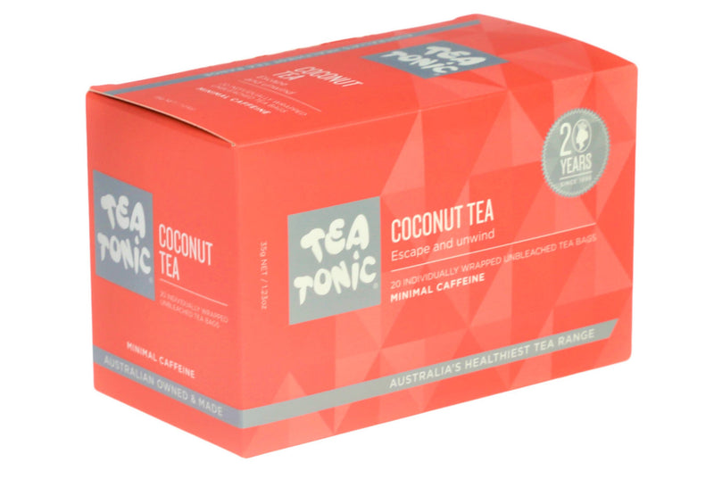 Tea Tonic Box Coconut Tea Unbleached 20 Teabags CNBO