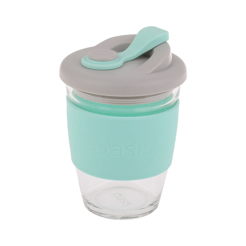 Oasis Borosilicate Glass Eco Cup 340ml Spearmint 8995SM