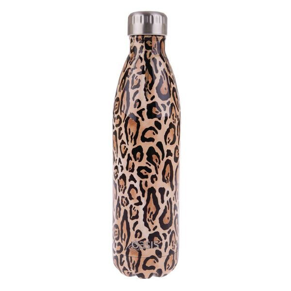 Oasis S/S Double Wall Insulated Drink Bottle 750ml Leopard Print 8883LP