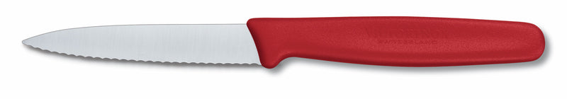 Victorinox Paring 8cm Pointed Wavy RED 5.0631