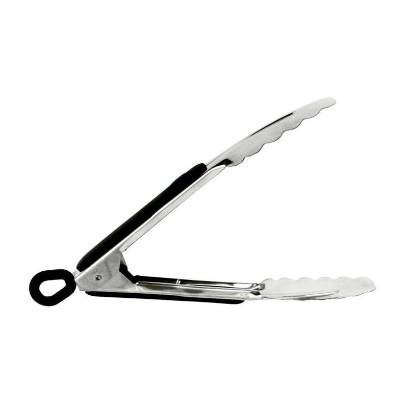 H/DUTY S/S 20CM TONGS W/RUBBER GRIP AND LOCK 3304-1