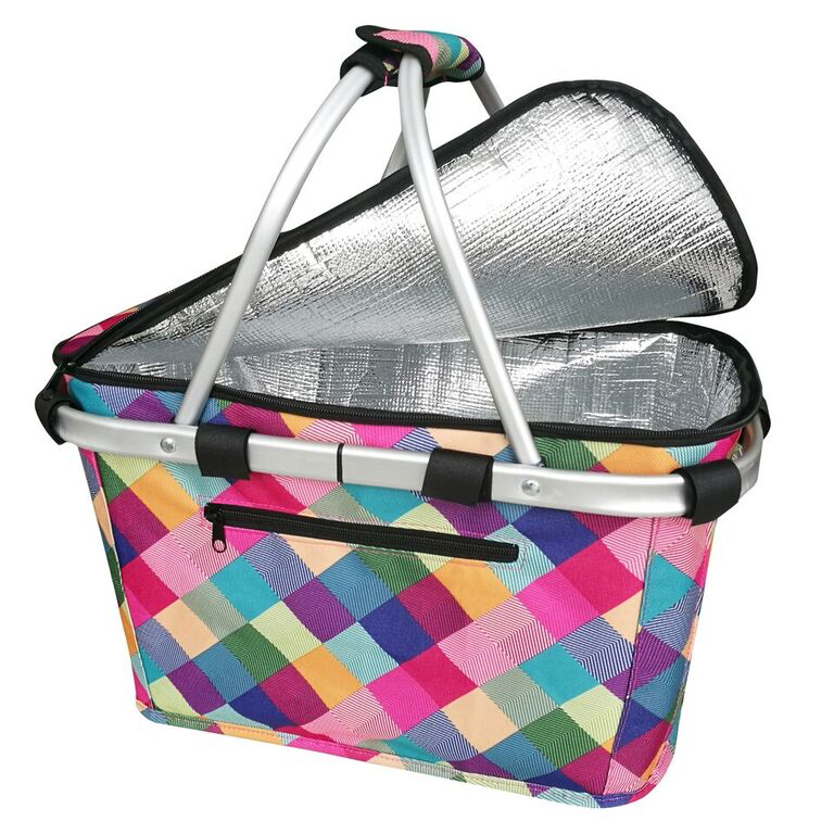 Sachi Insulated Carry Basket w Lid Harlequin 4696HQ