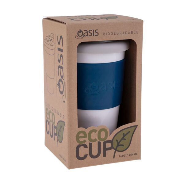 Oasis Biodegradable Eco Cup 16oz 454ml Navy 8993NY