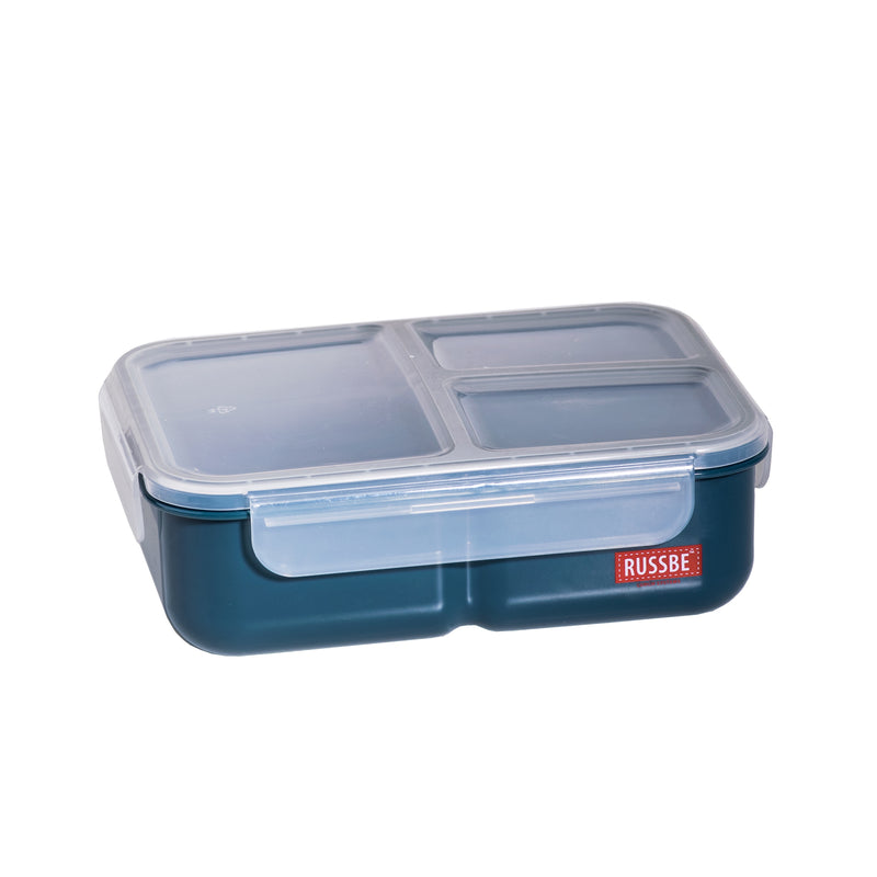 Inner Seal 3 Compartment Lunch Bento 1.6Ltr- Navy 8762NY