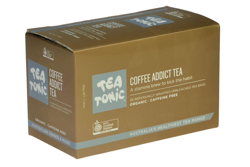 Tea Tonic Box Coffee Addict Tea Unbleached 20 Teabags CABO