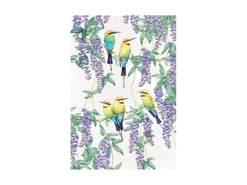 MW Royal Botanic Gardens Garden Friends Tea Towel 50x70cm Rainbow Bee Eater GX0266