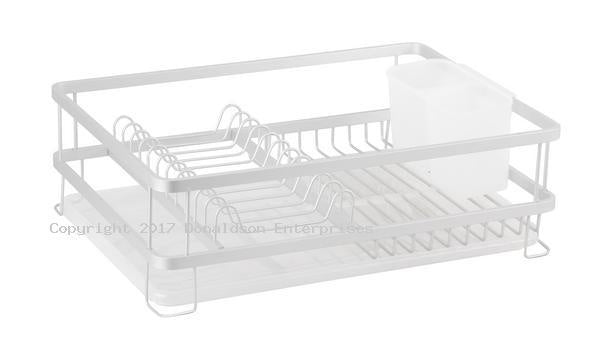 Aluminium Dish Rack with Draining Board 4575