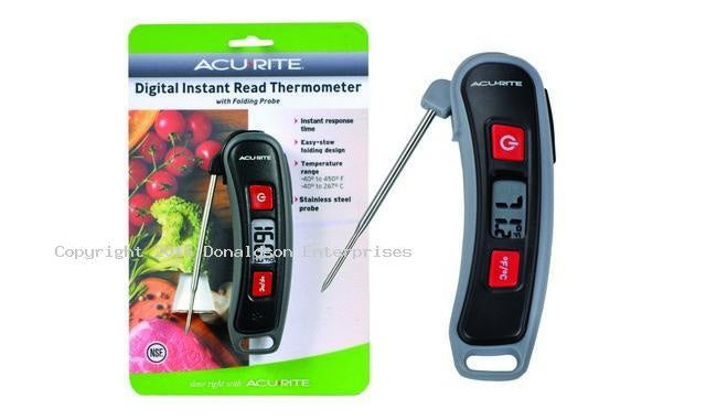DIGITAL INSTANT READ THERMOMETER W/ FOLDING PROBE 3016