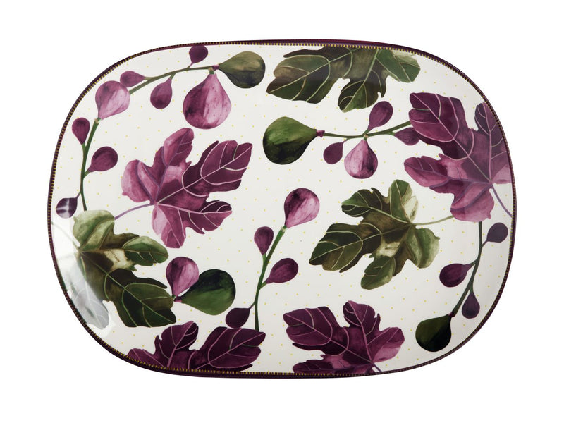 Mw Fig Garden Oblong Platter 45cm Gift Boxed DR0332