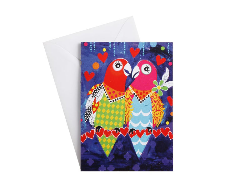 MW Love Hearts Greeting Card Love Birds EX0148