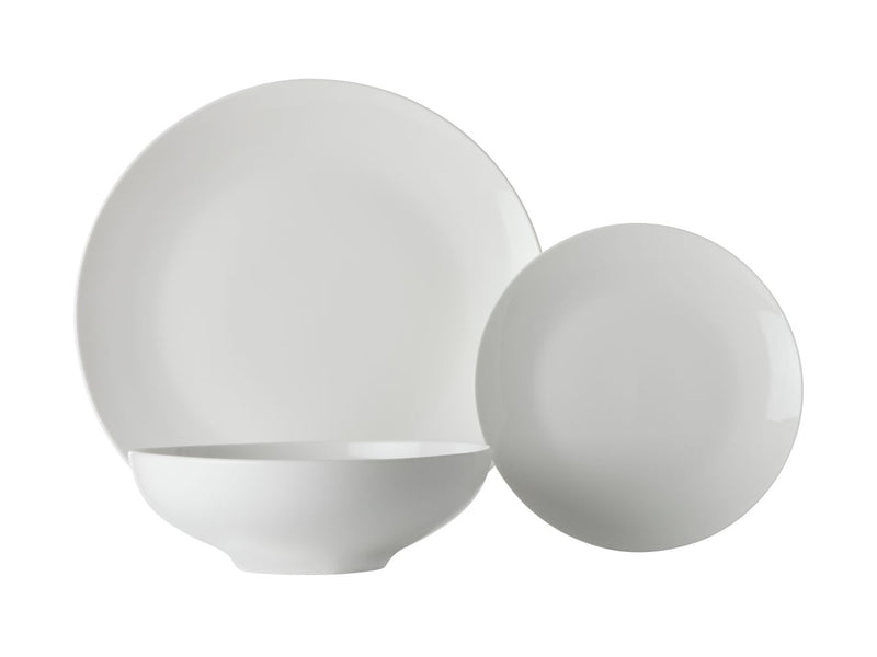 MW White Basics Tribeca Coupe Dinner Set 18pc Gift Boxed FX0150 RRP $149.95