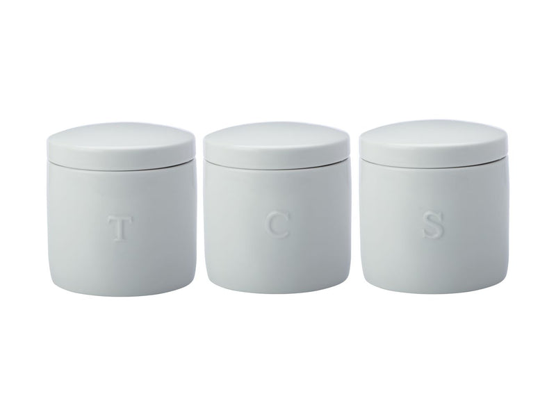 MW Epicurious Canister 600ml Set of 3 White Gift Boxed IA0056
