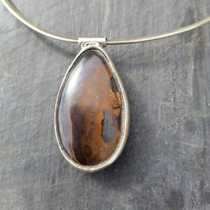Yowa Nut Opal Necklace
