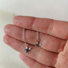 Load image into Gallery viewer, Small Star Drop Earrings