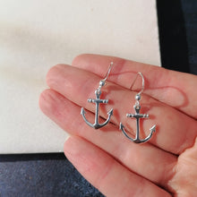 Load image into Gallery viewer, Anchor Drop Earrings