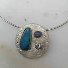 Load image into Gallery viewer, Sterling Silver and  Austrailian Opal Necklace