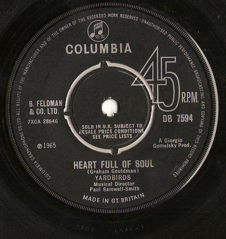 Yardbirds - Heart Full Of Soul