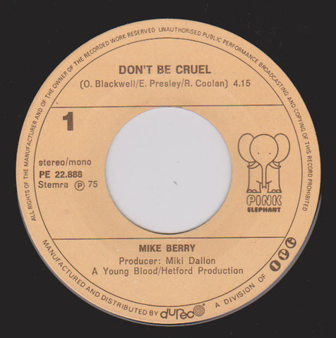 Mike Berry - Don't Be Cruel